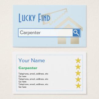 """Cartão De Visitas """"Cartões de visitas do carpinteiro do achado"""