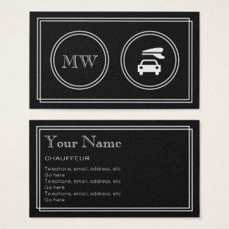 """Cartão De Visitas """"Cartões de visitas do Chauffeur do filme"""