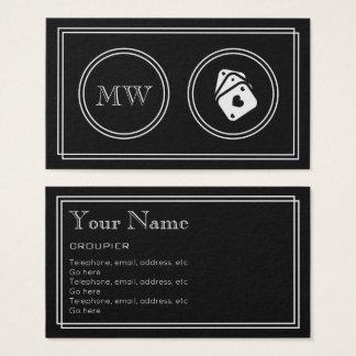 """Cartão De Visitas """"Cartões de visitas do Croupier do filme"""