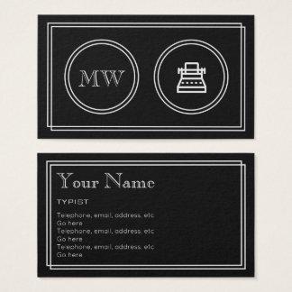"""Cartão De Visitas """"Cartões de visitas do escritor do filme"""