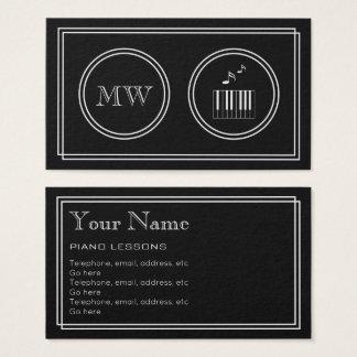 """Cartão De Visitas """"Cartões de visitas do pianista do filme"""