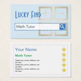 """Cartão De Visitas """"Cartões de visitas do tutor da matemática do"""