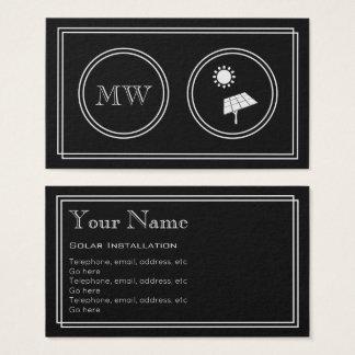 """Cartão De Visitas """"Cartões de visitas solares do instalador do filme"""