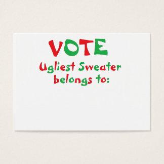 """Cartão De Visitas """"Cartões de votação do partido feio da camisola do"""