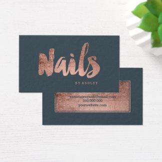 Cartão De Visitas Carvão vegetal cor-de-rosa da tipografia do ouro