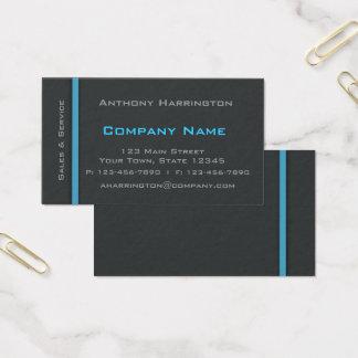 Cartão De Visitas Carvão vegetal e profissional da listra azul