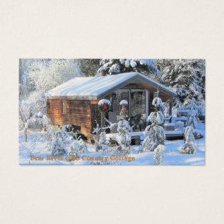 Cartão De Visitas Casa de campo do país do rio do urso