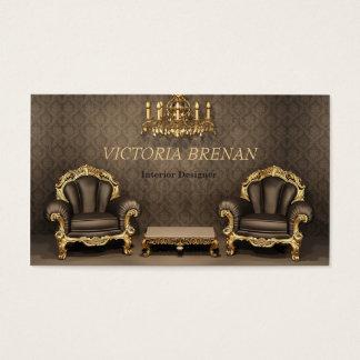 Cartão De Visitas Casa do clássico do decorador da mobília do