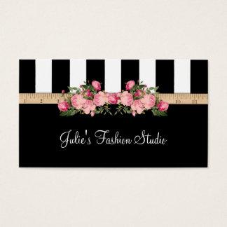 Cartão De Visitas Casa modelo Sewing do estúdio da forma