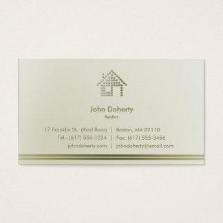 Cartão De Visitas Casa moderna do corretor de imóveis |