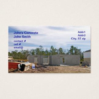 Cartão De Visitas casa nova do bloco de cimento
