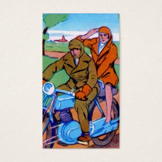 Cartão De Visitas Casal da motocicleta