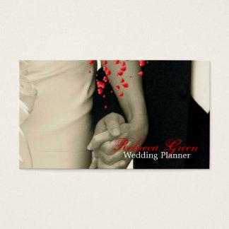 Cartão De Visitas casal que guardara as mãos que wedding o
