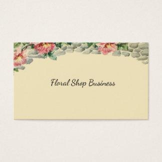 Cartão De Visitas Cascata cor-de-rosa chique floral das flores sobre