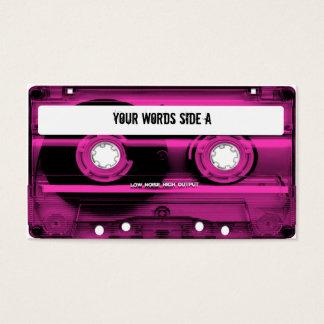 Cartão De Visitas Cassete de banda magnética cor-de-rosa