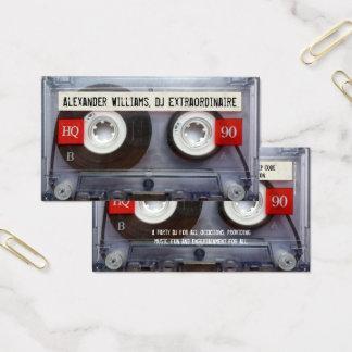 Cartão De Visitas Cassete de banda magnética Extraordinaire do DJ