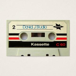 Cartão De Visitas Cassete de banda magnética retro da gaveta nerdy