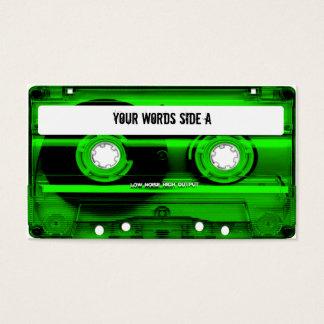 Cartão De Visitas Cassete de banda magnética verde personalizada