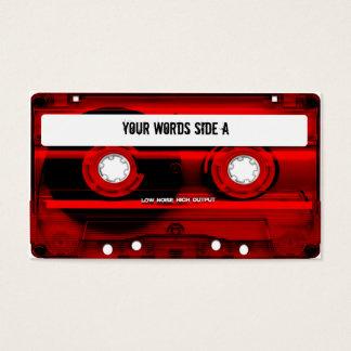 Cartão De Visitas Cassete de banda magnética vermelha personalizada