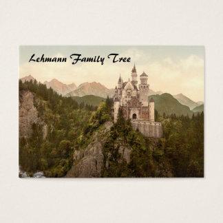 Cartão De Visitas Castelo de Neuschwanstein, Baviera, Alemanha