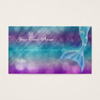 Cartão De Visitas Cauda da sereia Enchanted sob o assento da mesa do