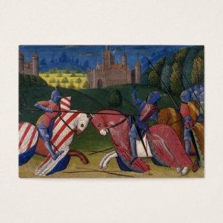 Cartão De Visitas Cavaleiros Jousting