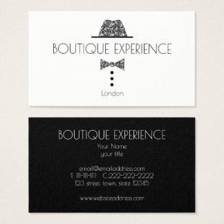 Cartão De Visitas Cavalheiro dândi do boutique do vintage da forma
