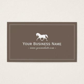 Cartão De Visitas Cavalo de competência Brown liso elegante