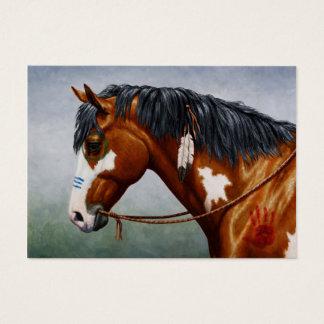 Cartão De Visitas Cavalo de guerra do Pinto da baía do nativo