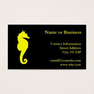 Cartão De Visitas Cavalo marinho amarelo