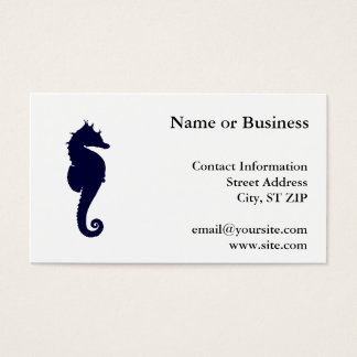 Cartão De Visitas Cavalo marinho azul escuro