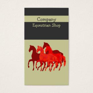 Cartão De Visitas Cavalos feitos sob encomenda   fáceis artísticos