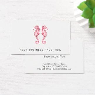 Cartão De Visitas Cavalos marinhos