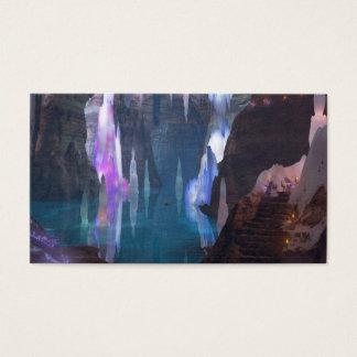 Cartão De Visitas Cavernas de brilho por marcador da noite