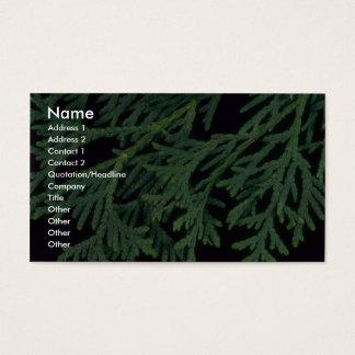 Cartão De Visitas Cedro da planta