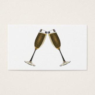 Cartão De Visitas Celebração dos vidros de Champagne