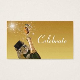 Cartão De Visitas Celebração formal do Chipmunk bonito