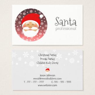 Cartão De Visitas Celebração profissional da festa de Natal do papai