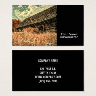Cartão De Visitas celeiro velho da fazenda do wildflower do campo do