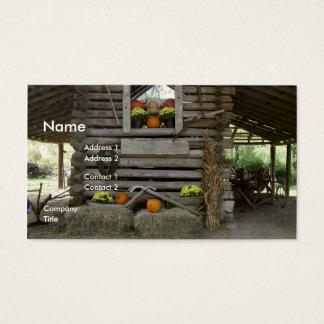 Cartão De Visitas Cena do outono