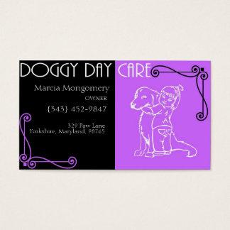 Cartão De Visitas Centro de dia customizável do Doggy