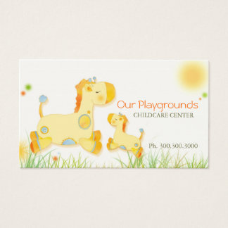 Cartão De Visitas Centro de guarda bonito da puericultura dos