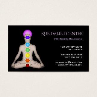 Cartão De Visitas Centro de Kundalini para o equilíbrio de Chakra