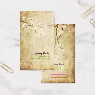 Cartão De Visitas CEREJA BLOSSOMS/SAKURA♥♥ do ROSA do VINTAGE de