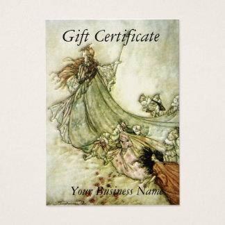 Cartão De Visitas Certificado de presente ausente das fadas - Arthur