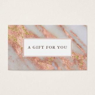 Cartão De Visitas Certificado de presente cor-de-rosa Sparkling do
