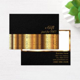 Cartão De Visitas Certificado de presente metálico do ouro