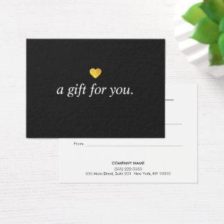 Cartão De Visitas Certificado de presente moderno do cliente do