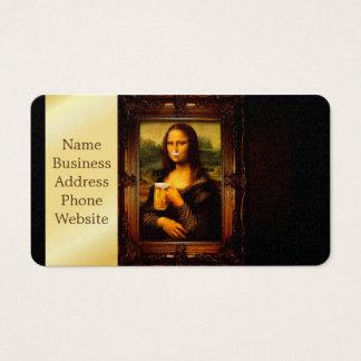 Cartão De Visitas Cerveja de Mona lisa - de Mona lisa - lisa-cerveja