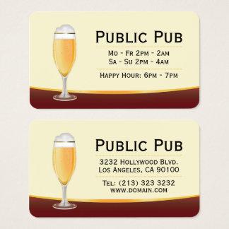 Cartão De Visitas Cervejaria do bar da cerveja e do micro do bar